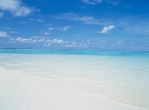 白い砂浜と海の写真素材 [FYI03923971]