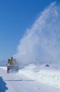 道路の除雪車の写真素材 [FYI03924109]