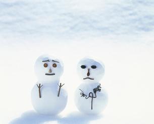 雪だるま(クラフト)の写真素材 [FYI03924634]