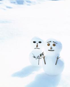 雪だるま(クラフト)の写真素材 [FYI03924636]