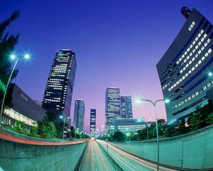 大阪ビジネスパーク 夜景の写真素材 [FYI03924686]