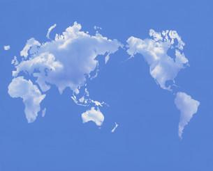 雲の世界地図のイラスト素材 [FYI03924972]