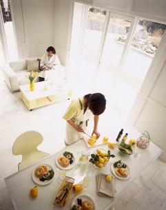 飲食イメージ 俯瞰の写真素材 [FYI03925181]
