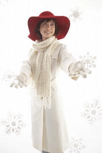 帽子の女性の写真素材 [FYI03926936]