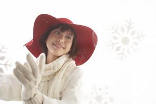 帽子の女性の写真素材 [FYI03926938]