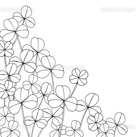 クローバー線画のイラスト素材 [FYI03928327]