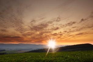 夕焼けの丘の写真素材 [FYI03929463]