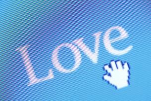 パソコンイメージ  LOVEの写真素材 [FYI03929770]