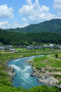 長良川と山田の集落の写真素材 [FYI03930233]