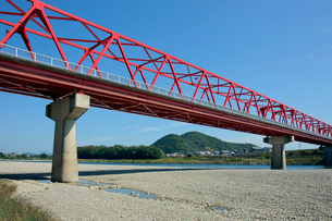 藍川橋・長良川の写真素材 [FYI03930295]