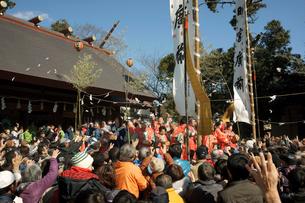鬼祭り・厄除飴まき 安久美神戸神明社の写真素材 [FYI03930329]