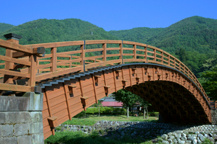 中山道 木曽の大橋・奈良井宿の写真素材 [FYI03930501]