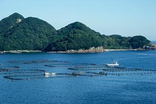 二木島湾・マグロの養殖場の写真素材 [FYI03930633]