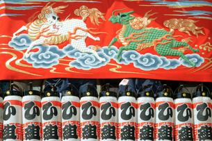 掛塚祭り 東町屋台の前幕 貴船神社 10月第3土日曜日の写真素材 [FYI03930673]