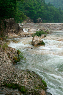 鳳来峡・板敷川(別称)宇連川の写真素材 [FYI03930953]