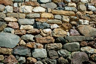 犬山城の天守台石垣・野面積 の写真素材 [FYI03930957]