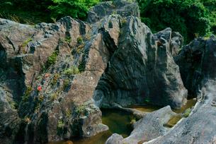 飛水峡の甌穴 国の天然記念物の写真素材 [FYI03930962]