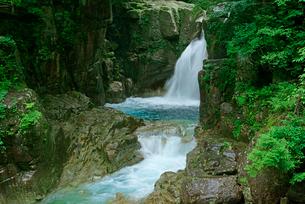 竜神の滝・川上川 夕森公園 の写真素材 [FYI03930977]