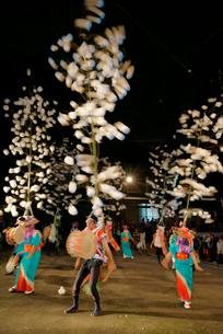 川上ほうろ踊り,八幡神社,9月第3土曜日,岐阜県重文の写真素材 [FYI03931017]