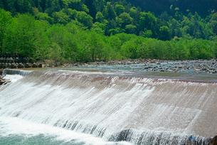 堰堤,王滝川の写真素材 [FYI03931236]