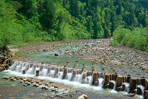 堰堤,王滝川の写真素材 [FYI03931238]
