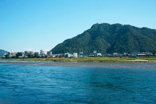 長良川と岐阜城の写真素材 [FYI03931361]