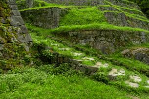 岩村城 東曲輪の虎口石段の写真素材 [FYI03931843]