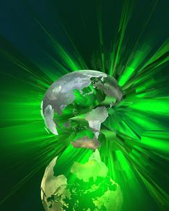 破裂する地球 CGの写真素材 [FYI03932058]