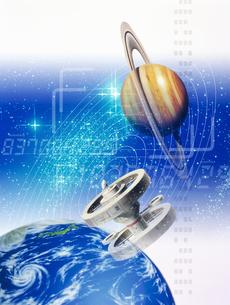 地球と木星イメージ CGのイラスト素材 [FYI03932281]