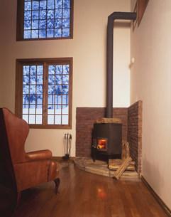 暖炉の写真素材 [FYI03932607]