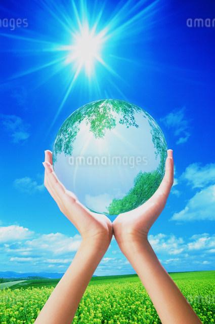 手の中の地球のイラスト素材 [FYI03933023]