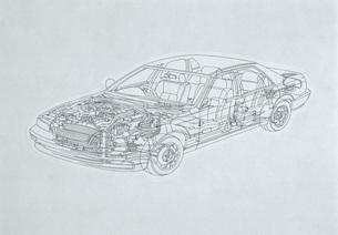 車の構図 イラストのイラスト素材 [FYI03934560]