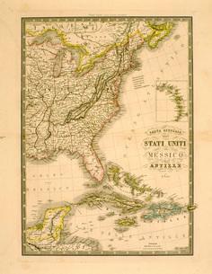 アメリカ東部地図のイラスト素材 [FYI03935028]