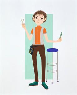 美容師イラストのイラスト素材 [FYI03935108]