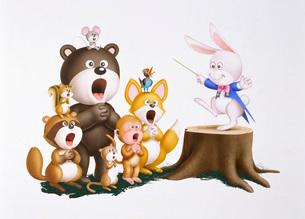 動物の合唱イメージのイラスト素材 [FYI03936386]
