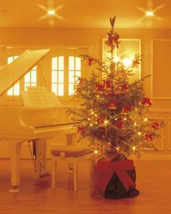 クリスマスツリーとグランドピアノの写真素材 [FYI03937940]