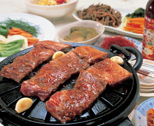 韓国風焼肉の写真素材 [FYI03939279]