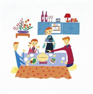 鍋パーティー イラストのイラスト素材 [FYI03941118]