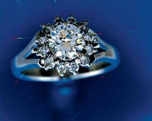 ダイヤの指輪の写真素材 [FYI03941650]