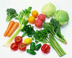 野菜と果物の集合の写真素材 [FYI03942068]