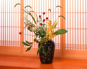 秋の生け花の写真素材 [FYI03942278]