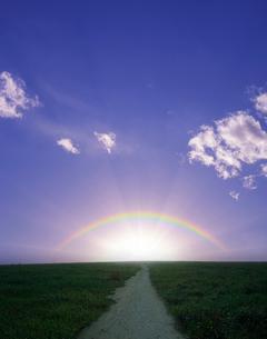 虹と小道の写真素材 [FYI03943735]