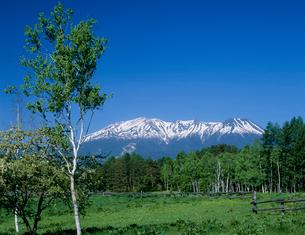 御嶽山と開田高原の写真素材 [FYI03944267]