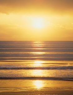 材木座海岸 夕照の写真素材 [FYI03944320]