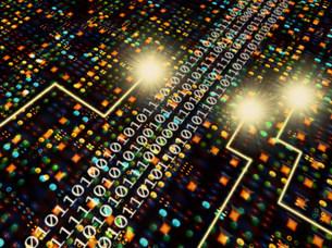 数字と光のイメージ  CGの写真素材 [FYI03944532]