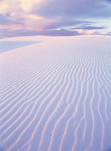 砂漠と砂紋の写真素材 [FYI03944986]
