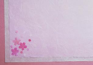 桜色の和紙の写真素材 [FYI03945213]