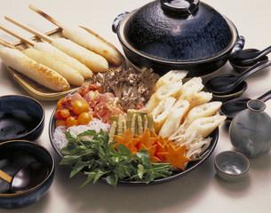 きりたんぽ鍋材料の写真素材 [FYI03946146]