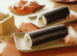 節分の巻き寿司の写真素材 [FYI03947581]