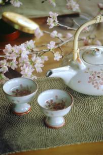 春のテーブルセットの写真素材 [FYI03947586]